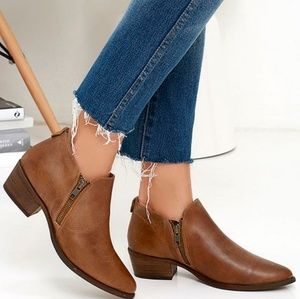 Steve Madden AJAY Cognac Leather boots
